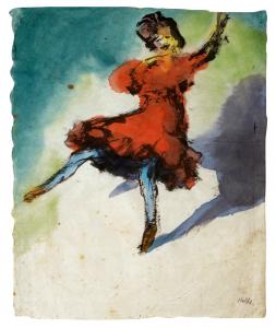 """Эмиль Нольде. """"Танцовщица в красном платье"""""""