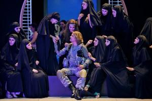 Новая постановка «Парсифаля» с Клаусом Флорианом Вогтом в главной роли, открывала Байройтский музыкальный фестиваль. Фото Enrico Nawrath.