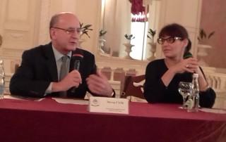 Питер Гэлб и Владимир Урин пресс-конференция