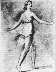 Айседора Дункан. Рисунок Гордона Крэга