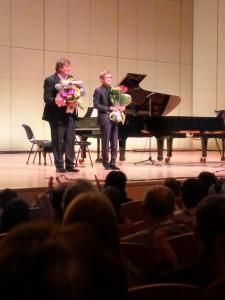 8 июня в Рахманиновском зале Филармонии 2 состоялся концерт фортепианного дуэта двух звёзд - Бориса Березовского и Дмитрия Маслеева