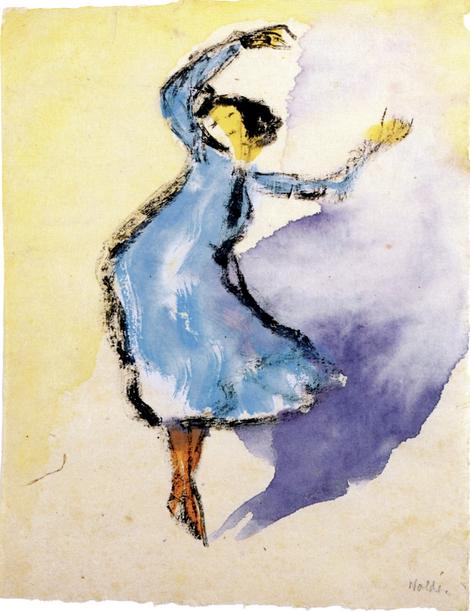 Танцовщица в голубом платье