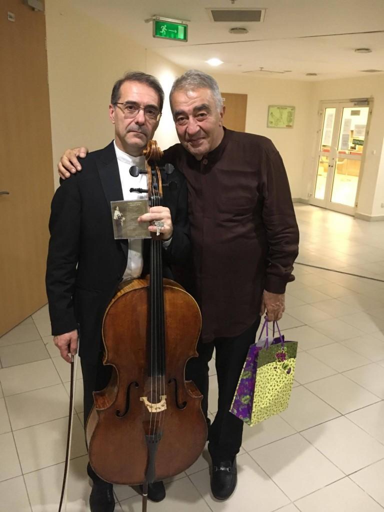 Александр Рудин и Ваграм Сараджян после концерта