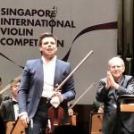 Сергей Догадин выиграл Второй Международный конкурс скрипачей в Сингапуре