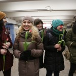 Флэшмоб в Новосибирском метро от ансамбля «Маркелловы голоса»