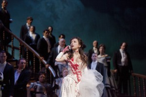 "Natalie Dessay as the title role of Donizetti's ""Lucia di Lammermoor."" Photo: Ken Howard/Metropolitan Opera Taken on February 21, 2011 at the Metropolitan Opera in New York City."